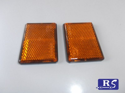 Catadióptrico rectangular ambar (adhesivo)